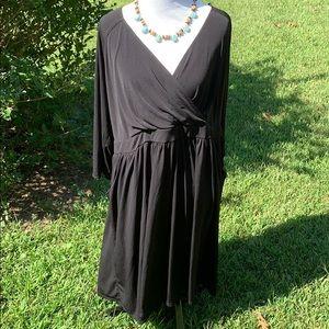 Torrid black faux wrap jersey knit dress 4X